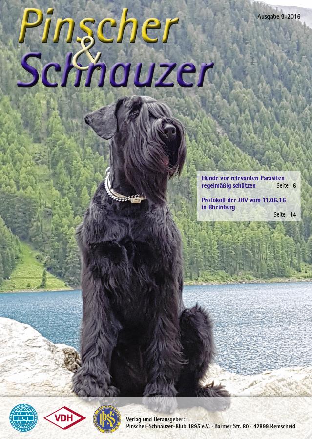 PSK_Deutscher Pinscher_Haller Deutsche Pinscher_Abby - Zugspitz DogTrekking 2016 - Bericht über den Doghike in der Klubzeitschrift PuS September 2016
